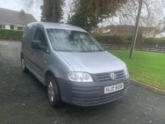 2008 VOLKSWAGEN CADDY C20 TDI 104 1.9 DIESEL SILVER VAN, SHOWING 4 FORMER KEEPERS *NO VAT*