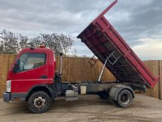 2010/10 REG MITSUBISHI CVS CANTER 75 DAY 7C18 4.9L DIESEL TIPPER, SHOWING 1 FORMER KEEPER *PLUS VAT*