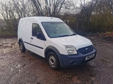 2013/62 REG FORD TRANSIT CONNECT 90 T230 1.8 DIESEL WHITE PANEL VAN, SHOWING 2 FORMER KEEPERS