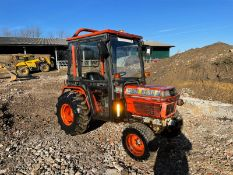 KUBOTA B2150 COMPACT TRACTOR, RUNS AND DRIVES, FULLY GLASS CAB, 3 POINT LINKAGE *PLUS VAT*