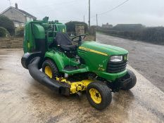 JOHN DEERE X748 RIDE ON MOWER, 4WD, RUNS, DRIVES AND CUTS, LOW 1810 HOURS, REAR PTO *PLUS VAT*