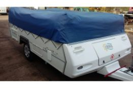 2004 CONWAY CRUISER 4 BERTH FOLDING CAMPER TRAILER TENT SINGLE AXLE TOW-ABLE *NO VAT*