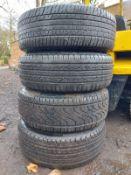 4 WHEELS / TYRES / CENTRE CAPS FOR 2013 ISUZU D MAX *NO VAT*