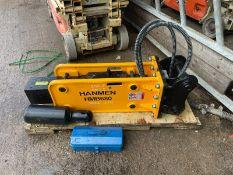 BRAND NEW AND UNUSED HANMEN HMB680 BREAKER, SUITABLE FOR 5-8 TON EXCAVATOR *PLUS VAT*