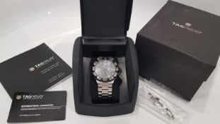 TAG HEUER GULF F1 LIMITED EDITION MENS WATCH 44mm WITH BOX AND PAPERS /GUARANTEE CARD. WAH1013