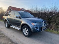 2008/08 REG MITSUBISHI L200 WARRIOR DI-D D/C 2.5 DIESEL GREY PICK-UP, SHOWING 4 FORMER KEEPERS