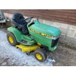 JOHN DEERE LX178 RIDE ON MOWER, STARTS RUNS CUTS AND DRIVES *PLUS VAT*