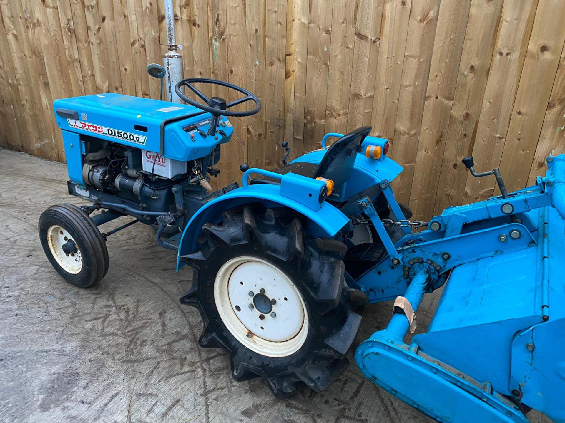 MITSUBISHI D1500V COMPACT TRACTOR & ROTOVATOR, STARTS, RUNS AND DRIVES & WORKS WELL *PLUS VAT* - Image 5 of 5