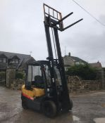 2007 TCM 25 FORKLIFT, RUNS, DRIVES AND LIFTS, 2.5 TON, SIDE SHIFT, LOW 7700 HOURS *PLUS VAT*