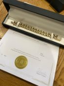 Solid heavy 9ct gold gem Miami Cuban link bracelet-16mm, Comes with certificates of authenticity