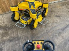 RANSOMES SPIDER ILD01 4WD REMOTE CONTROLLED BANKING MOWER, KAWASAKI PETROL ENGINE *PLUS VAT*