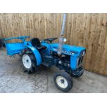 MITSUBISHI D1500V COMPACT TRACTOR & ROTOVATOR, STARTS, RUNS AND DRIVES & WORKS WELL *PLUS VAT*