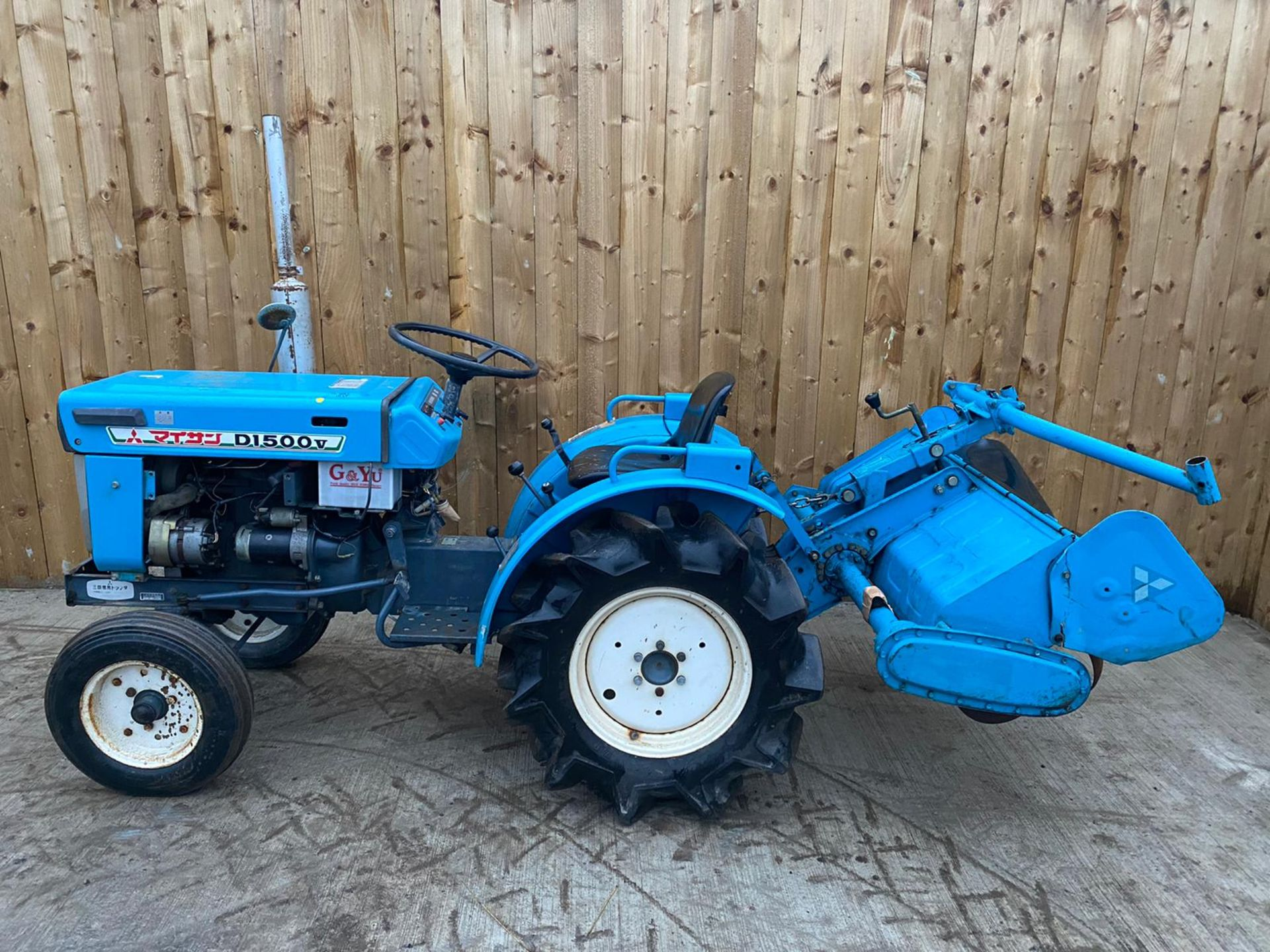 MITSUBISHI D1500V COMPACT TRACTOR & ROTOVATOR, STARTS, RUNS AND DRIVES & WORKS WELL *PLUS VAT* - Image 3 of 5