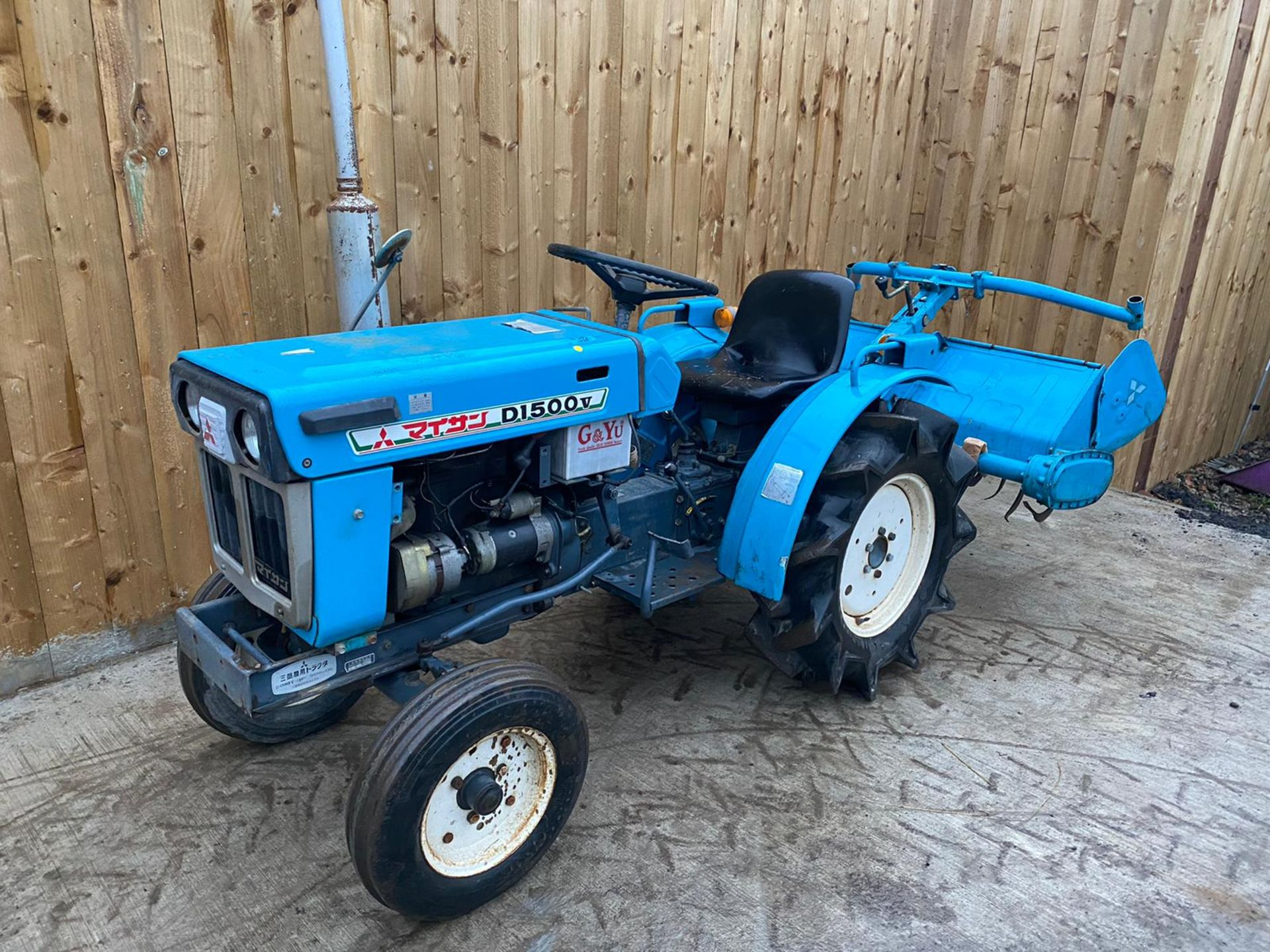 MITSUBISHI D1500V COMPACT TRACTOR & ROTOVATOR, STARTS, RUNS AND DRIVES & WORKS WELL *PLUS VAT* - Image 4 of 5