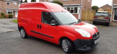 2013/63 REG FIAT DOBLO 16V XL MULTIJET LWB 1.6 DIESEL RED PANEL VAN, SHOWING 0 FORMER KEEPERS
