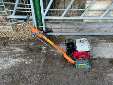 VON ARX CONCRETE PLANER / GROOVER, RUNS AND WORKS, IN USED BUT GOOD CONDITION, 5HP HONDA ENGINE