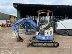 HANNEX H&B15 MINI EXCAVATOR / DIGGER, RUNS, DRIVES AND DIGS, IN USED BUT GOOD CONDITION *PLUS VAT*