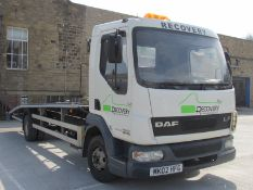 2002/02 REG DAF TRUCKS FA LF45.170 DIESEL ENGINE RECOVERY LORRY, SHOWING 4 FORMER KEEPERS *NO VAT*