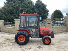KUBOTA B2150 COMPACT TRACTOR, RUNS AND DRIVES, FULLY GLASS CAB, 23 HP, 4WD, FRONT WEIGHTS *PLUS VAT*