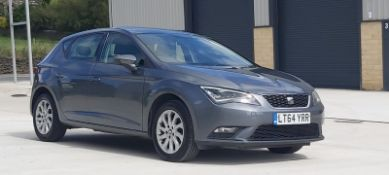 2014/64 REG SEAT LEON SE TECHNOLOGY TDI 1.6 DIESEL GREY 5DR HATCHBACK, SHOWING 0 FORMER KEEPERS