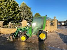 JOHN DEERE 4100 LOADER TRACTOR, 4 WHEEL DRIVE, RUNS, WORKS AND LIFTS *PLUS VAT*