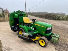 JOHN DEERE X595 4X4 RIDE ON MOWER, RUNS, DRIVES AND CUTS, IN USED BUT GOOD CONDITION *PLUS VAT*