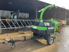 2011 GREENMECH QUADCHIP 160 SINGLE AXLE TOW BEHIND WOOD CHIPPER, RUNS AND WORKS *PLUS VAT*