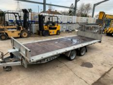"TWIN AXLE TILT BED TRAILER - 16 X 6' 6"" with SIDES AS WELL *NO VAT*"