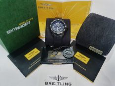 BREITLING SKYRACER 45MM MENS WATCH BOX & PAPERS NO VAT