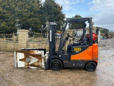 2009 DOOSAN G18S-5 FORKLIFT, RUNS, DRIVES AND WORKS, IN USED BUT GOOD CONDITION *PLUS VAT*