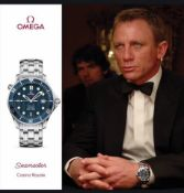 Omega Seamaster Professional 300m Mid Size James Bond Blue Wave Dial Mens Watch