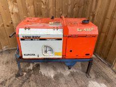 KUBOTA LOW BOY GD4500 DIESEL GENERATOR, ZB400 ENGINE 110/240V KEY START, DELIVERY TO UK MAINLAND £60