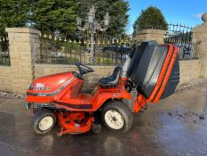 KUBOTA G1900 HST 4WS RIDE ON MOWER WITH COLLECTOR, RUNS, DRIVES AND CUTS, DIESEL ENGINE *NO VAT*