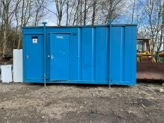 TOILET BLOCK WITH SINKS AND TOILETS IN SIDE, GOOD CONDITION, EX COUNCIL *PLUS VAT*