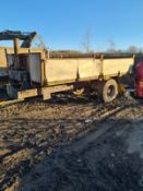 TRACTOR TIPPING TRAILER - NO VAT