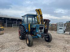 FORD 6600 TRACTOR WITH MID MOUNTED MOWER, RUNS, DRIVES AND WORKS *PLUS VAT*