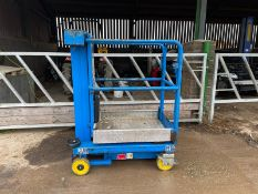 2010 NANO POWER TOWER ELECTRIC SCISSOR LIFT, ALL WORKS, IN USED BUT GOOD CONDITION *PLUS VAT*