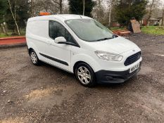 2017/67 REG FORD TRANSIT COURIER TREND TDCI 1.5 DIESEL WHITE PANEL VAN, SHOWING 0 FORMER KEEPERS