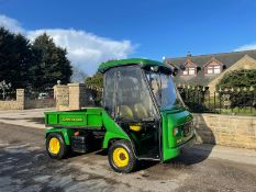 JOHN DEERE PRO GATOR, 249 RECORDED HOURS, HYDRAULIC TIPPING BACK, CAB WITH HEATING UNIT *PLUS VAT*