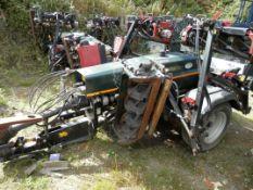 DS -2010 HAYTER TM749 TRAILERED 7 GANG MOWER. WORKING UNIT.  2010 TM749 MODEL. 7