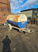 BUNDED DIESEL BOWSER 2000 LITRES WITH TRAILER, SUSPENSION AND BRAKES *PLUS VAT*