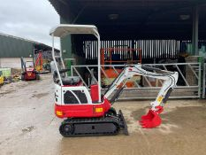BRAND NEW AND UNUSED RED AND WHITE RHINOCEROS XN08 MINI EXCAVATOR / DIGGER *PLUS VAT*