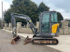 2016 VOLVO EC27 EXCAVATOR, RUNS, DRIVES AND DIGS, LOW 2870 HOURS, QUICK HITCH *PLUS VAT*