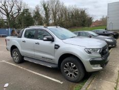 2017/67 REG FORD RANGER WILDTRAK 4X4 TDCI 3.2 DIESEL AUTO SILVER PICK-UP, SHOWING 1 FORMER KEEPER