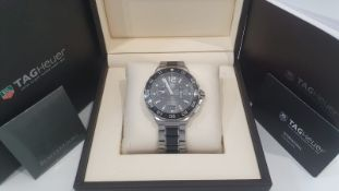 TAG HEUER GENTS CHRONOGRAPH CERAMIC & STEEL WATCH 42MM, BOX, GUARANTEE CARD STUNNING WATCH