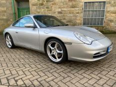 2003/52 REG PORSCHE 911 CARRERA 2 3.6 PETROL SILVER COUPE, SHOWING 3 FORMER KEEPERS *NO VAT*