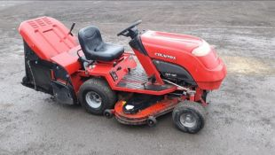 COUNTAX C800H PETROL RIDE ON MOWER, FULL WORKING ORDER WITH SWEEPER AND GRASS BOX *NO VAT*