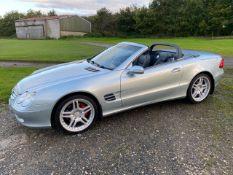 2003/03 REG MERCEDES SL500 AUTO 5.0 PETROL SILVER CONVERTIBLE *NO VAT*