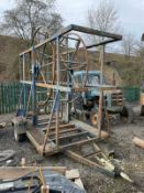 SINGLE AXLE PIPE TRAILER, IN USED BUT GOOD CONDITION *PLUS VAT*