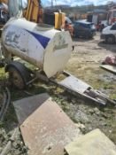 1000 LITRE GALVANISED WATER BOWSER WITH SPRINGS AND BRAKES TRAILER *PLUS VAT*